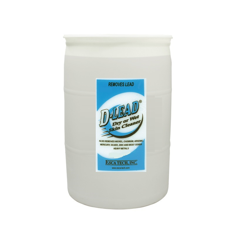 Esca Tech D-Lead Wipe or Rinse Skin Cleaner (55 Gal Drum)